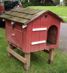 coop made from dog house